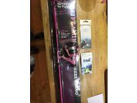 Girls pink fishing rod
