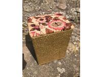 Vintage loom style laundry box