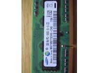 Samsung PC3 DDR3 SDRAM SO-DIMMS Laptop Memory 4gb.