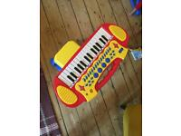 Toddler keyboard with stool