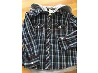 BOYS 'ST GEORGE' BY DUFFER HOODED SHIRT AGE 4 - 5 yrs