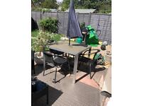 Outdoor dining set x 4 chairs