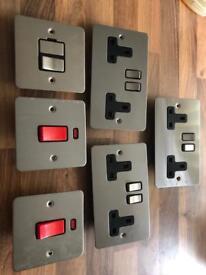Polished chrome plated kitchen sockets