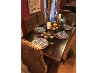 Solid Dining Table and 6 Chairs