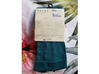 FALKE Cotton touch tights in dark TEAL medium/large size