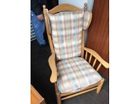 Lovely solid pine armchair