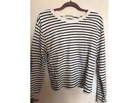 Zara striped jumper in size L