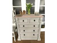 Pine chest of drawers free delivery ldn🇬🇧shabby chic rustic French provence