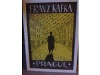 Pop art poster print Franz Kafka Prague nice frame by J Vortruba