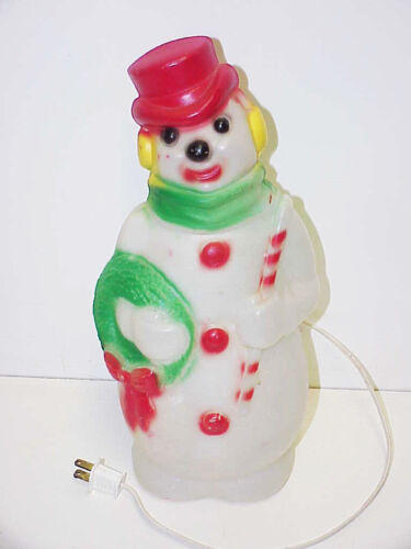 Lighted Snowman Empire 1968 Blow Mold 1352-1377