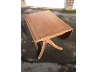 Pine Drop-Leaf Dining Table - USED