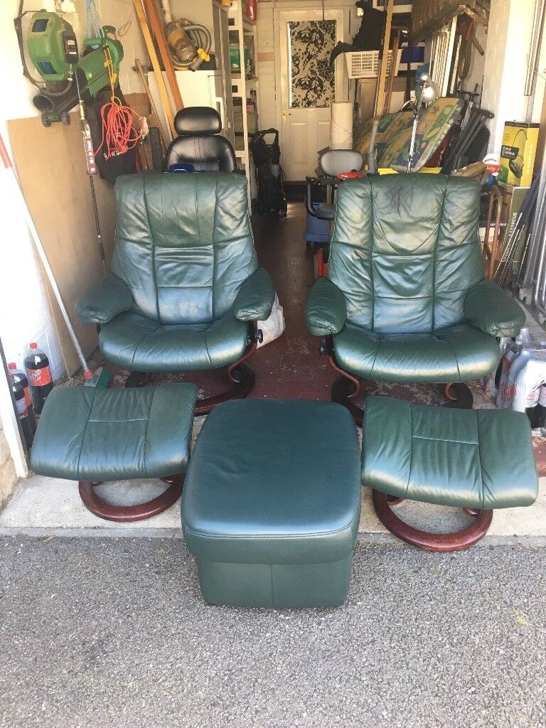 Excellent Ekornes Stressless Leather Recliner Swivel Chairs With Footstools And Pouffe In Newmachar Aberdeen Gumtree Ocoug Best Dining Table And Chair Ideas Images Ocougorg