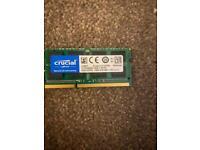 CRUCIAL RAM 8GB(1x8GB) DDR3 -1600 1.35v CT102464BF160B Laptop memory