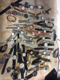 57 x watches old new working faulty joblot