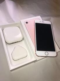 iPhone 7 Rose Gold 128gb Unlocked in excellent condition
