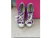 Purple converse trainers size 5