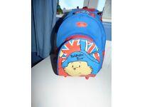 Paddington Bear Kids Mini Cabin Wheeled Bag Trolley Suitcase Luggage Backpack