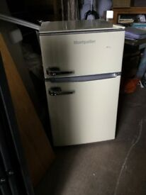 Montpellier retro under counter fridge freezer