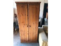 Gorgeous pine wooden wardrobe