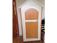 Nursery wardrobe and cupboard Lovely winnie the pooh design Ivory and pine v.g.c