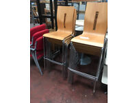 Stackable High Chairs (Chrome & Beech)