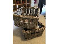 Wicker storage boxes from Ikea