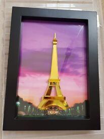New Eiffel Tower Framed Crystal Wall Art