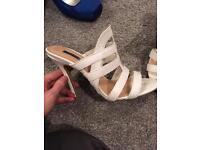 White backless sandal