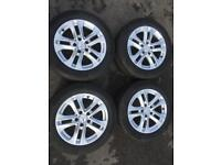 Mercedes 16 inch alloy wheels with continental tyres
