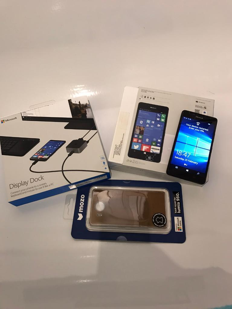 Microsoft Lumia 950 collectionin Motherwell, North LanarkshireGumtree - Swap Only not for sale Stunning condition Unlocked Lumia 950Boxed Lumia 950 with original accessories Use 2 sim cards at same time, usually different networksBoxed Display Dock, connect the Lumia 950 to a screen, keyboard and mouse to use as a...