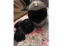 BMW women's motorbike helmet an leather gloves