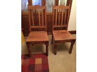 Jali solid wood dining chairs x4