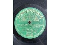 Various 78 rpm records for sale