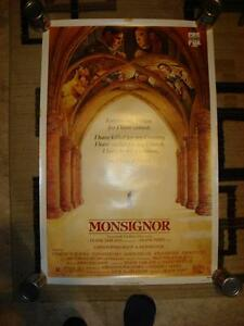 RARE 1982 CHRISTOPHER REEVE MONSIGNOR VHS VIDEO POSTER ROLLED