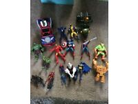 Various action figure