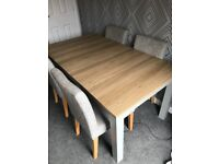 Next 6 Seater Extendable Dining Table