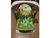 Fisher Price Rainforest Swing with 6 New Batteries(Duracell)