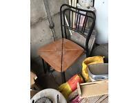 Free pair of chairs - Black metal and wood