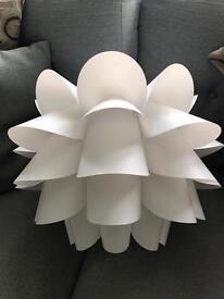 Pair Great Ikea Knappa white modern lamp shade