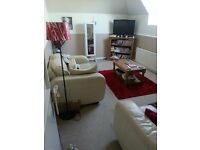 Lovely 1 bedroomed flat with separate lounge, new kitchen & shower room, GCH/parking in quiet area