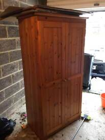 Solid pine wardrobe (6ft x 2ft x 3.8ft)