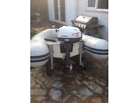 3m rib and 6hp outboard