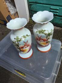 Vases, 2 off same, old dutch design