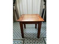 Solid acacia wood lamp table
