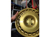 Compomotive th1570 gravel wheel In gold 4 good condition wheels no tyre 4x108 no crack or damage