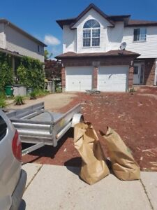 Yard cleanup and grass cutting services available