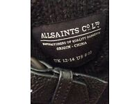 All Saints Black Knitted Cape