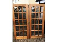 15 pane solid wood doors