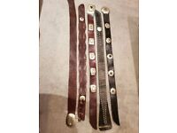 5 x Genuine Moroccan Woman's Leather Belts in different styles