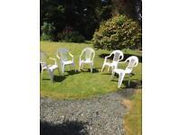 5 stackable garden chairs